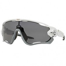 OCULOS OAKLEY JAWBREA POLISHED WHITE GREY POLARIZED