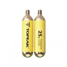 Cartucho Topeak CO2 25G - 2unidades-Amarelo